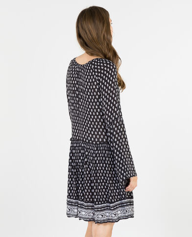 Robe fluide manches pagodes noir