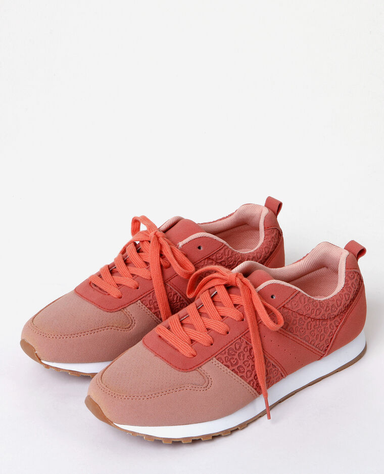 Zapatillas estilo running rosa