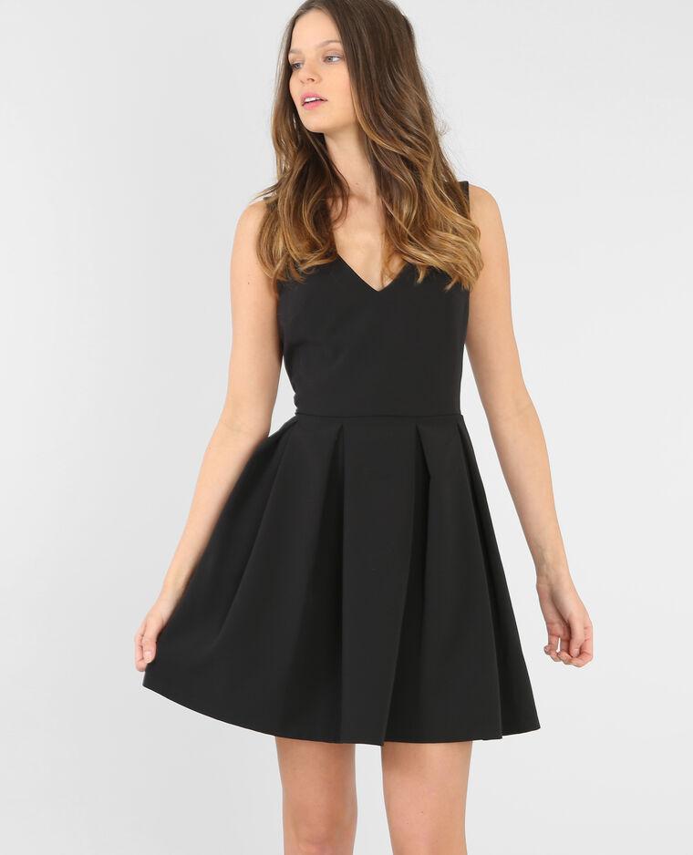 Kleid mit V-Ausschnitt Schwarz