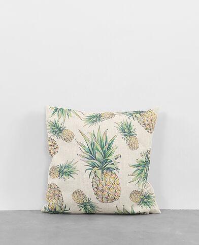 - Kissenbezug aus Baumwolle mit Ananas-Motiv. Blassgelb