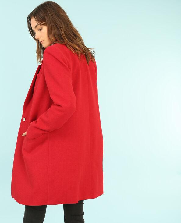 Manteau droit rouge
