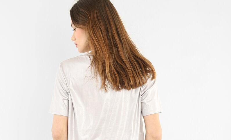 T-shirt iridata grigio