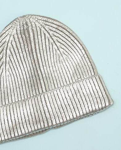Bonnet métallisé gris