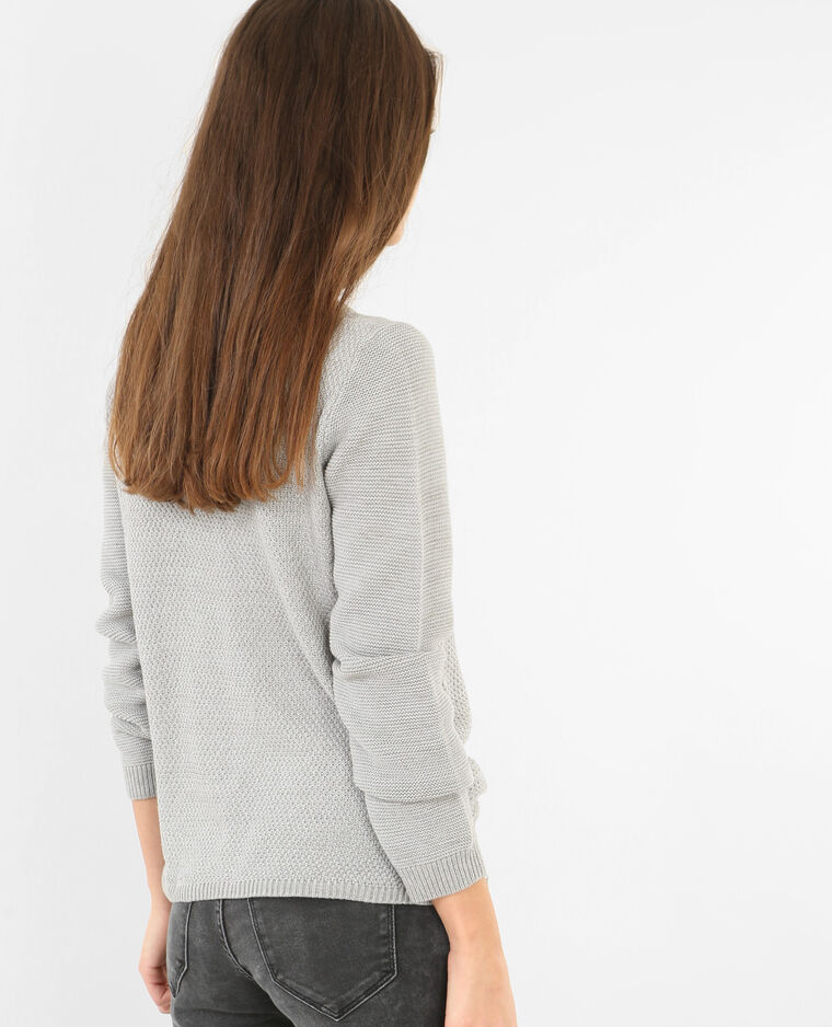 Pull multi mailles gris chiné