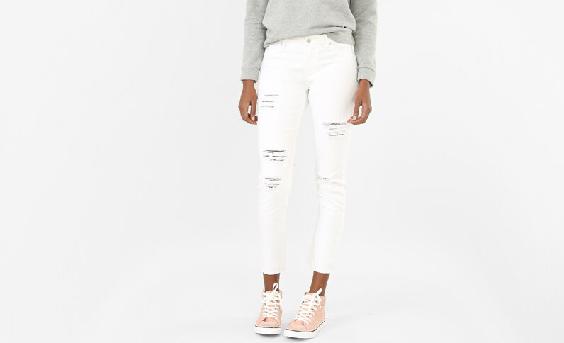 Jeans skinny destroy bianco