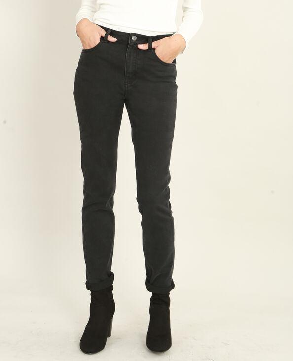 Jeans slim de talle alto negro
