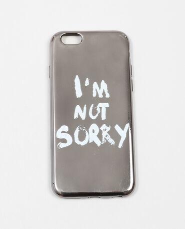 Hülle mit Aufschrift, mit iPhone kompatibel Grau