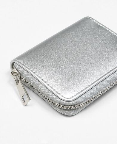 Kleine Brieftasche Silberig