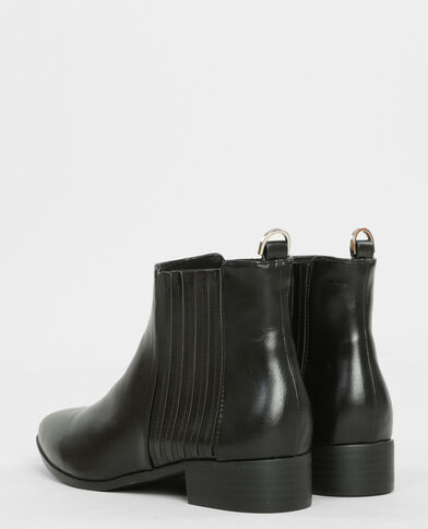 Boots chelsea pointues noir