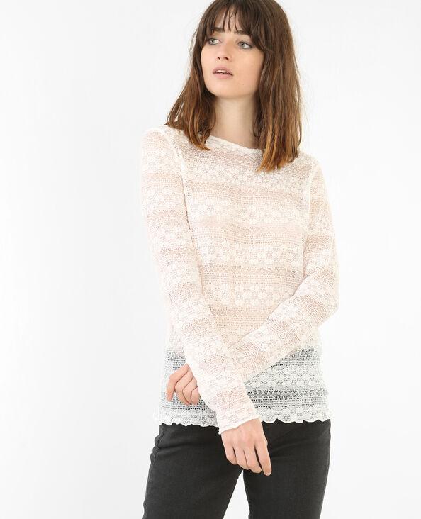 Spitzen-T-Shirt Weiß