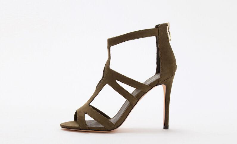 Groene sandalen met hak groen