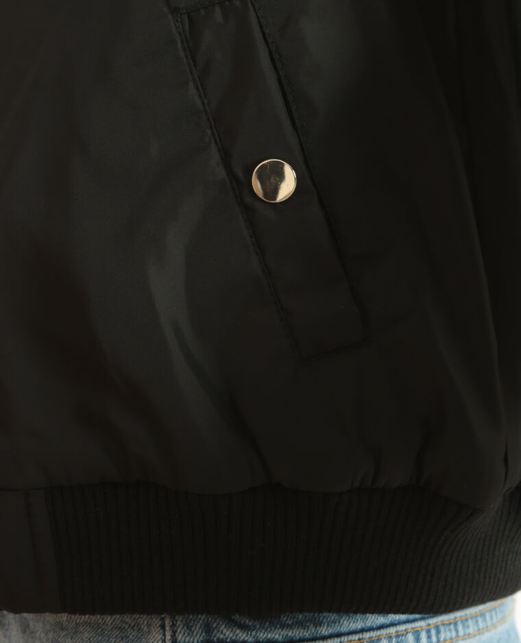 Bomber vestje zwart
