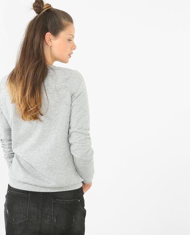 Sweatshirt mit Pailetten Grau