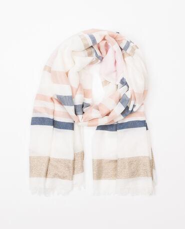 Foulard tessuto lurex rosa
