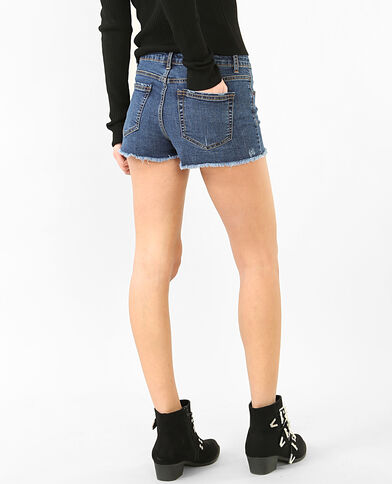 Mini-Shorts aus Denim Blau