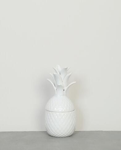 Boîte céramique ananas écru