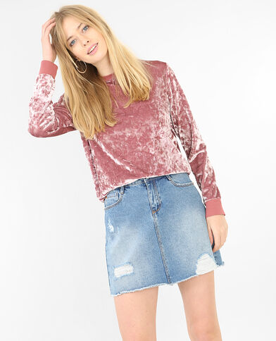 Velours-Sweatshirt Altrosa