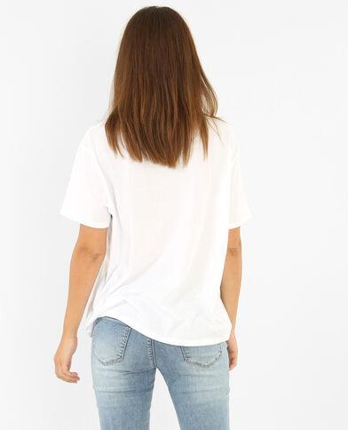 T-Shirt mit Aufschrift Weiß