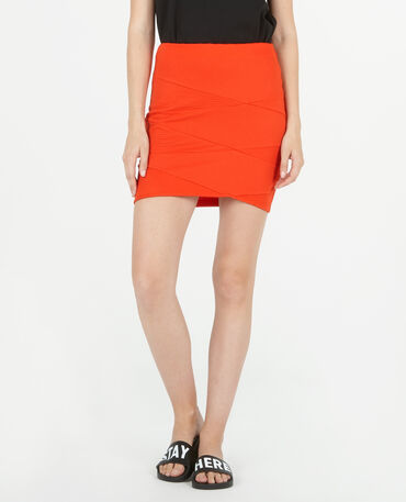 Mini jupe bodycon rouge