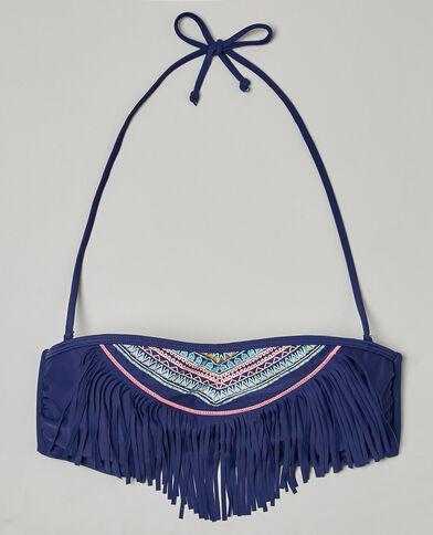 - Fascia etnica con frange Blu