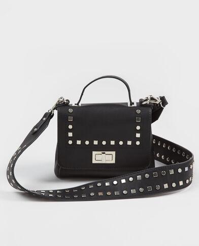 Kleine Handtasche mit Nieten Schwarz