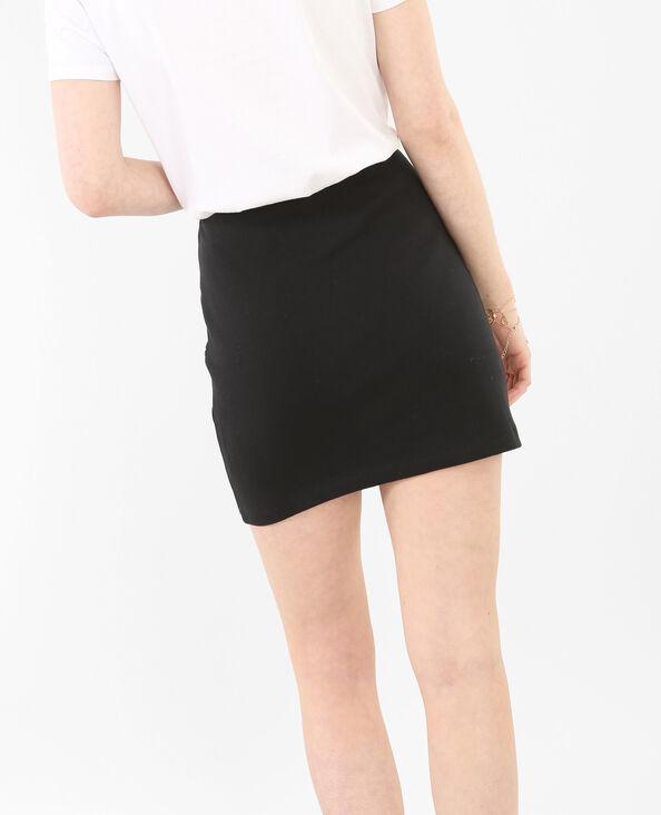 Minifalda bordada negro