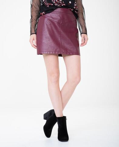 Minifalda de polipiel granate