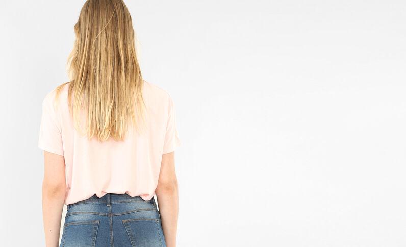 T-shirt met korte mouwen Roze