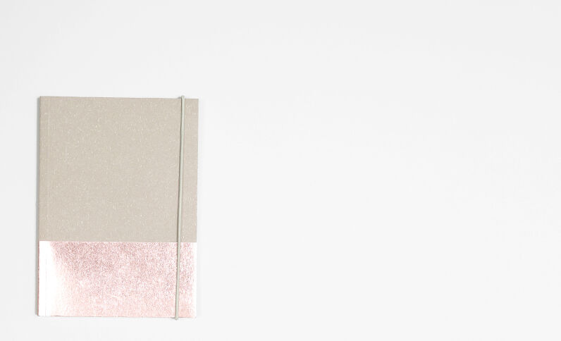Notebook craft et cuivre Beige