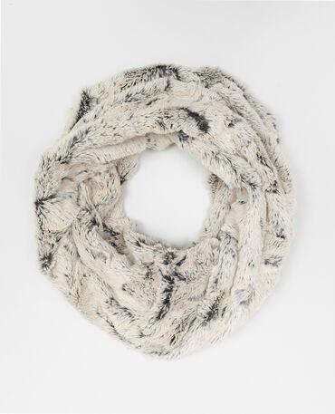 Snood in pelliccia ecologica bianco