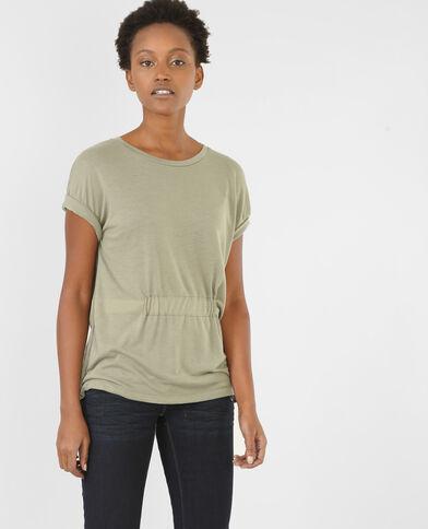 Camiseta para anudar verde