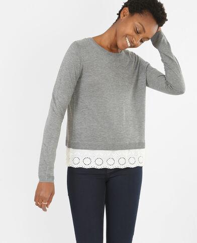 Jersey con superposición gris