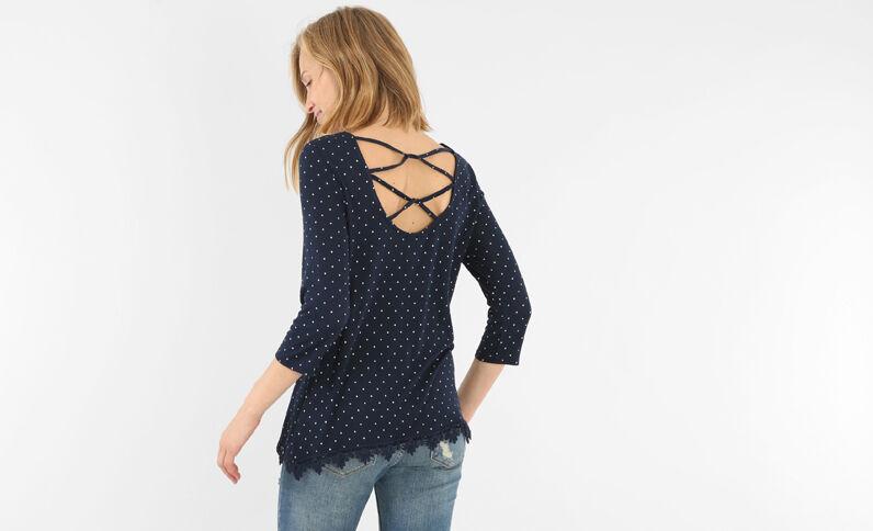 Camiseta de espalda cruzada azul marino