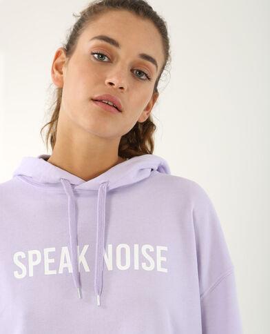 Sweat à message violet