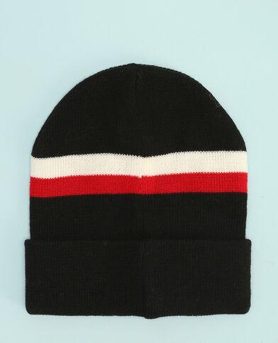 Mütze mit breiten Streifen Schwarz