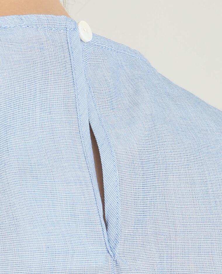 Chemise peplum bleu
