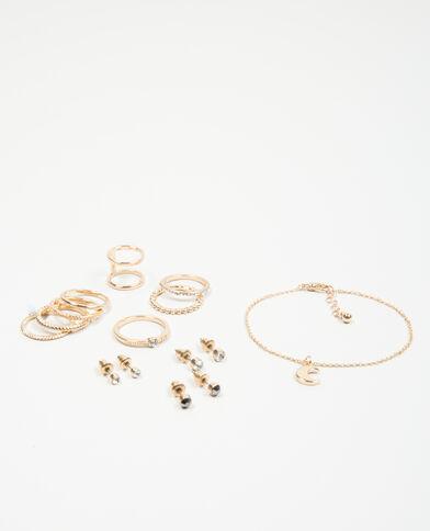Confezione di accessori dorato