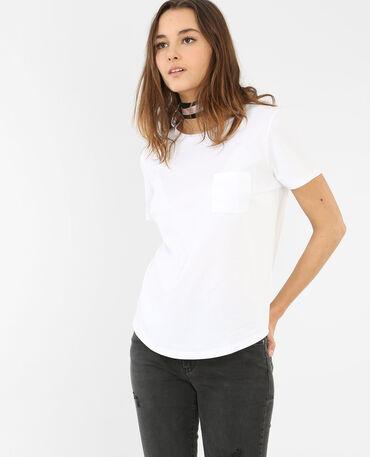 T-shirt à poche écru