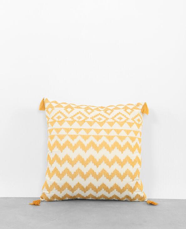 Federa per cuscino tessuto giallo