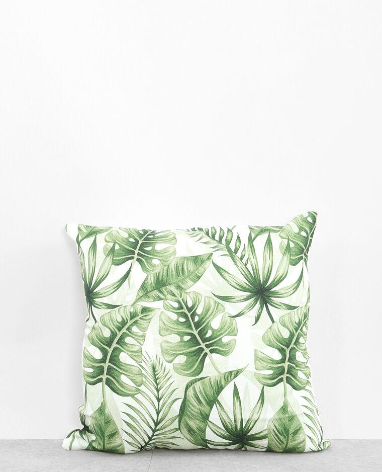 Housse de coussin palmier vert