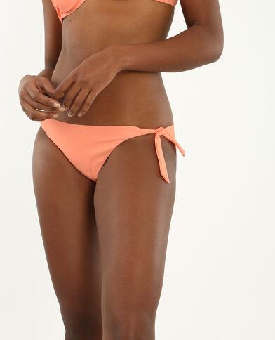 Bikinihöschen mit Wabenmuster Pfirsichfarben
