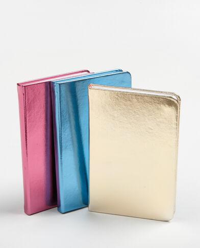 Lot de 3 notebooks métallisés rose