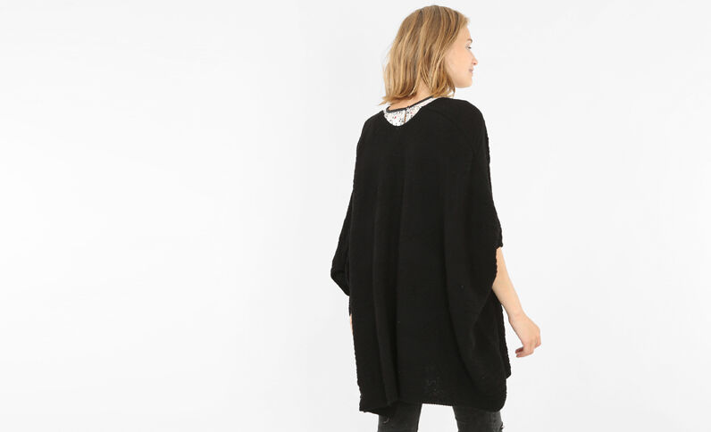 Cardigan kimono grigio