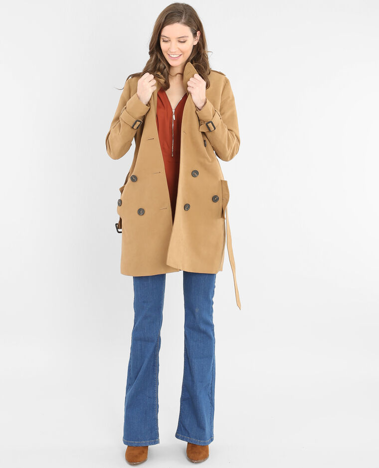 trench coat femme caramel 282033721a07 pimkie. Black Bedroom Furniture Sets. Home Design Ideas