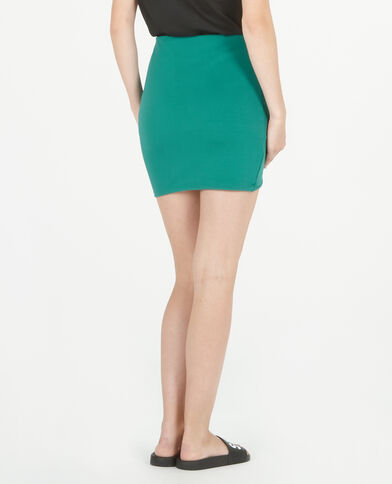 Mini jupe bodycon vert sapin