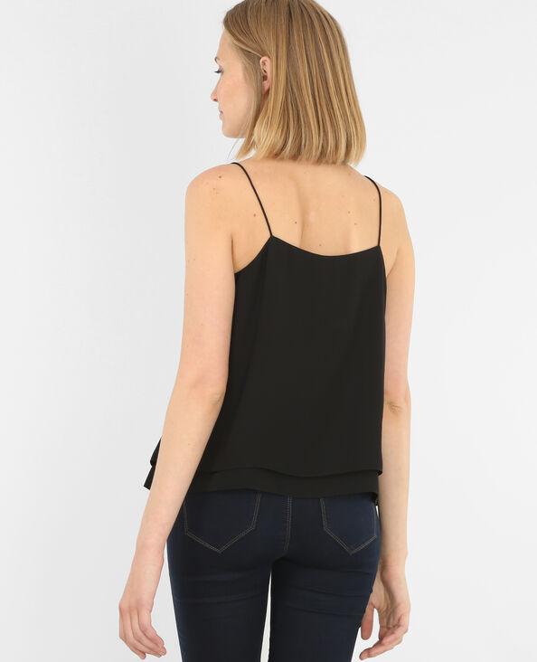 Camiseta de tirantes finos con encaje negro