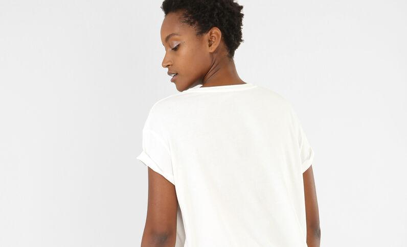 T-shirt patch écru