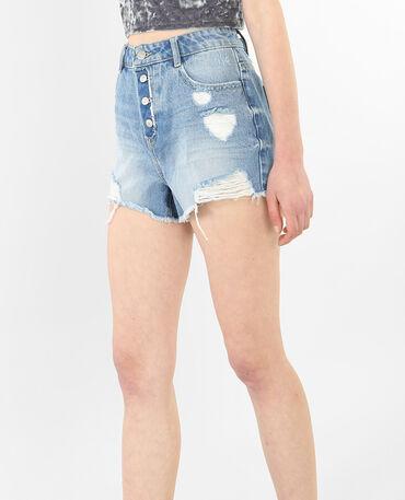 Short en jean destoy bleu