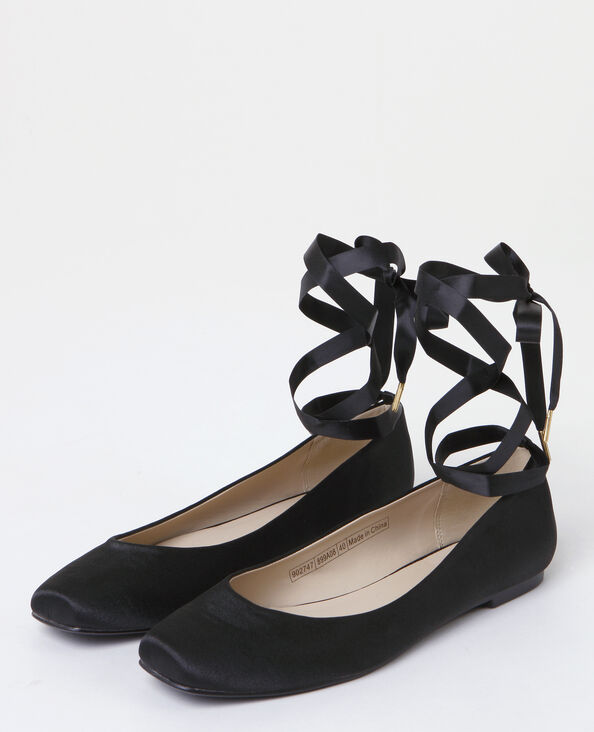 Ballerine satinate nero