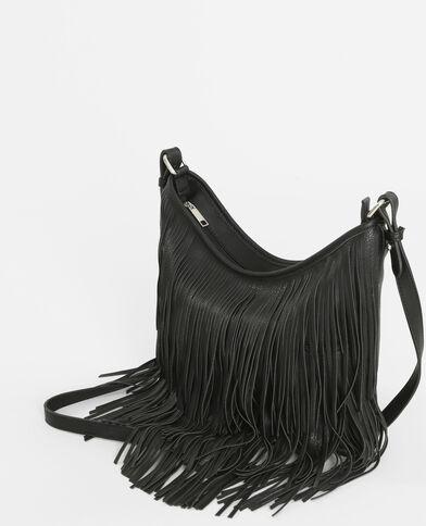 Bolso con flecos negro